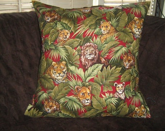TIGERS/LIONS/LEOPARDS/Cheetah Pillow Cover