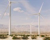 Palm Springs Wind Turbine, Fine Art Color Photo Print, Desert Photography