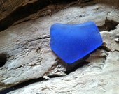Authentic Hand-Picked Glass - One beautiful piece of Royal Blue Beach Glass    FREE SHIPPING!