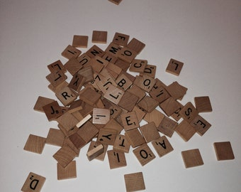 Full Set of 100 Scrabble Tiles - Alphabet, Letters, Crafts, Jewelry, Christmas Ornaments, Personalized Gifts