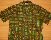 Mens Vintage 60s Kamehameha Bowling Style Hawaiian Shirt - M -  The Hana Shirt Co