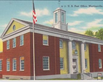 Martinsville, Virginia, U.S. Post Office - Linen Postcard - Unused (ZZZ)
