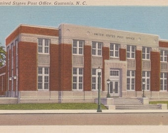 Gastonia, North Carolina, Post Office - Linen Postcard - Unused (ZZZ)