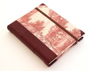 Leather Journal - Red Countryside