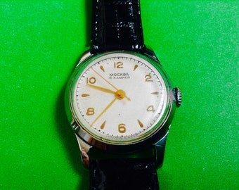 Men's MOSCOW watch Moskva Russian soviet wrist watch highly collectable rare men's watch