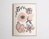 Wild Florals card in Pale Pink
