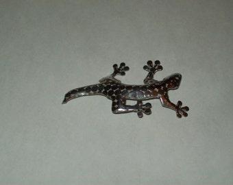 Sterling Silver Gecko Lizard Pin
