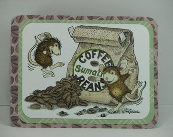 Jumping for Java Perky Mouse Greeting Card