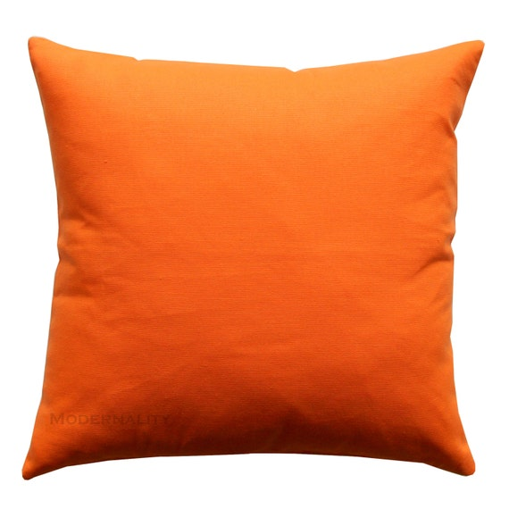Solid Orange Decorative Pillows : Throw Pillows Solid Mandarin Orange Pillow Cover Solid