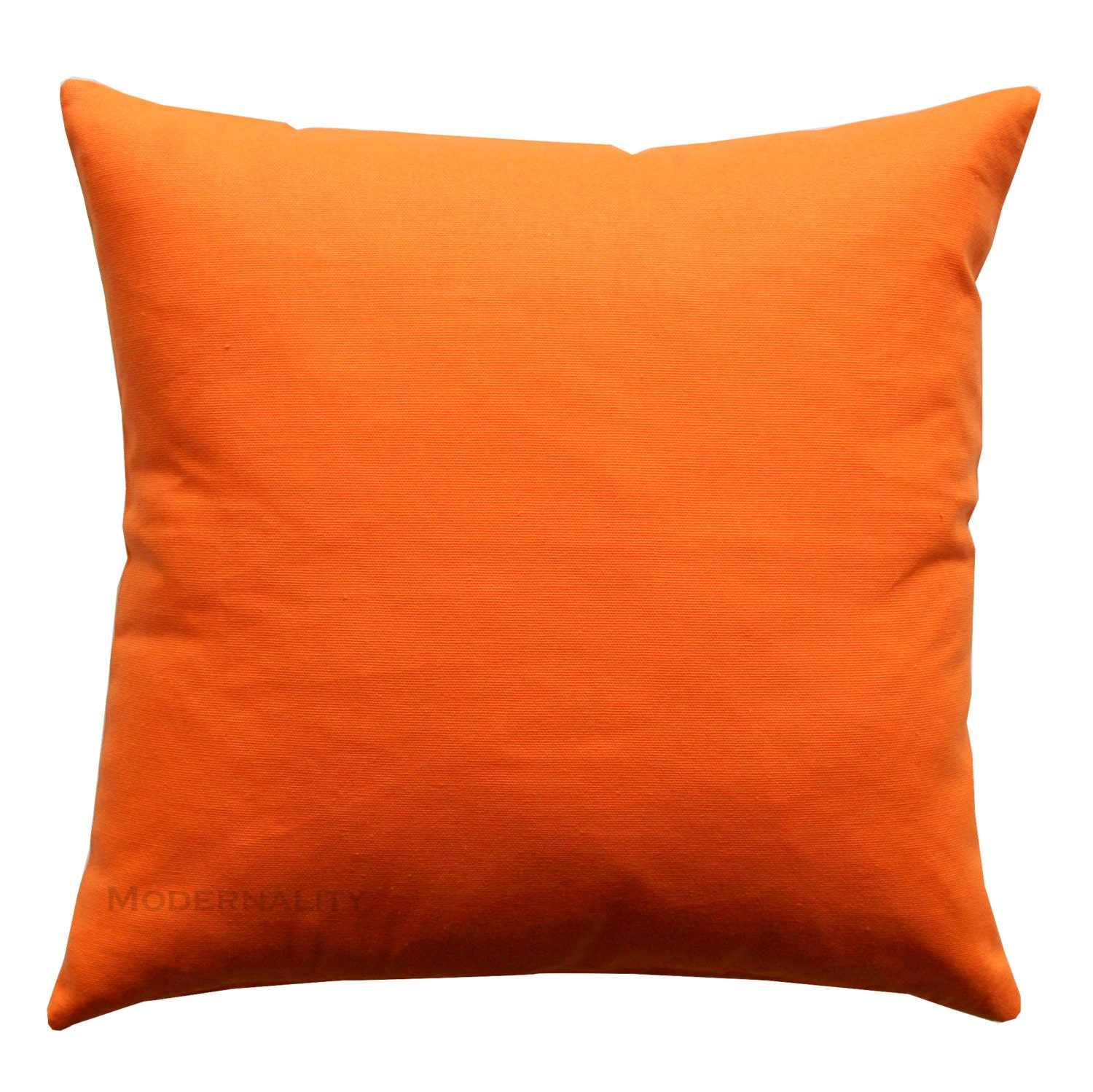 Throw Pillows Solid Mandarin Orange Pillow Cover Solid