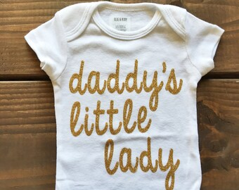 READY TO SHIP // Daddy's Little Lady Bodysuit // Size 0-3 Months // Short Sleeve