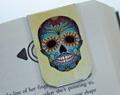 Bookmark, Magnetic Bookmark, Magnet Magnetic, Sugar Skulls Bookmark, Day of the Dead Bookmark,  Día de Muertos, Ready To Ship