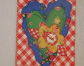 Heart Birthday Postcard Him Her Friend Mom Thank You Housewarming Frame Gift Hi Kitchen Bath Cabin Any Room 4x6 fabric quilted appliqued