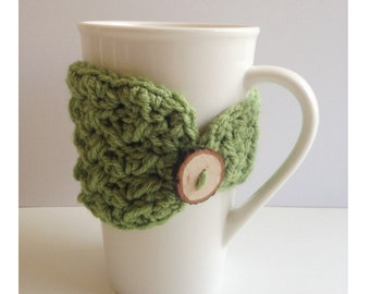 Coffee Cup/Travel Cup Crochet Cozy-Textured and beautiful.