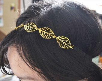 Gold Leaves Head Chain