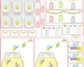 Mason jar stickers SET  erin condren plum planner filofax  63