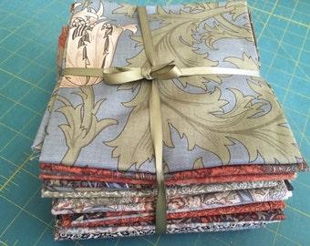 Morris and Company 20 cotton fat quarters by Barbara Brackman for Moda fabric