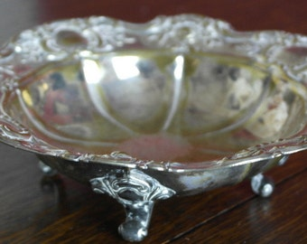 antique silver plate bowl