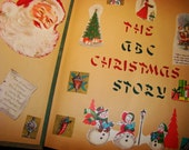 Fun 1960s The ABCs of Christmas Scrap Book  Handmade Vintage Cards