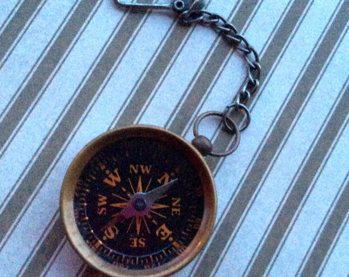 Accessories Men Nautical Compass and/or Keychain REALLY WORK Antique Bronze Compass Charm Nautical Charm Vintage Style