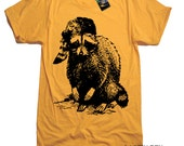 Raccoon Wildlife Woodland T Shirt - American Apparel Tee - S M L XL 2XL (15 Color Options)