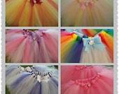 My Little Pony Tutu Party Pack- 6 tutus-Rainbow Dash, Twilight, Rarity, Pinkie Pie, Applejack  and Fluttershy