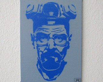 Heisenberg Single Layer Graffiti Stencil Art on Canvas Board 5x7