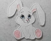 Bunny - MADE to ORDER - Choose SIZE - Tutu & Shirt Supplies - fabric Iron on Applique Patch 6770