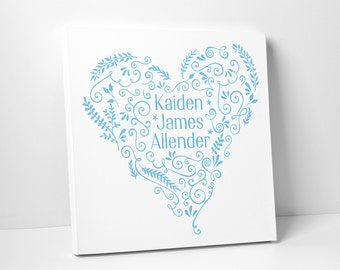 Personalized Baby Shower Gift, Print and Canvas Wrap