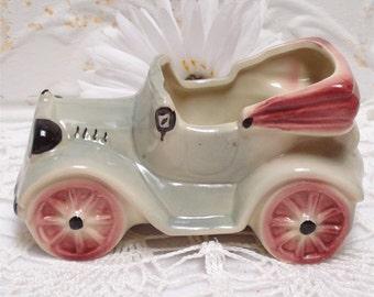 Vintage Pottery Planter Jalopy Car
