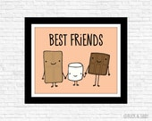 S'mores Best Friends Frameable Print