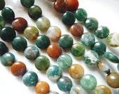 17 AGATE Gemstone Beads 12x3mm - COD5500