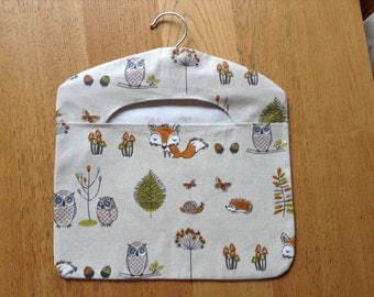 Woodland foxes and owls peg bag