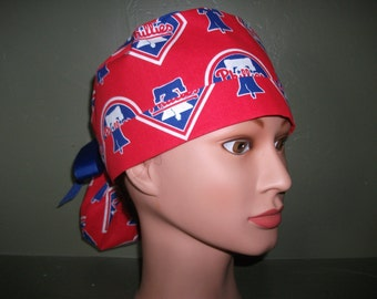 Phillies ponytail scrub cap