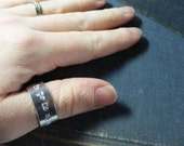I need to go to my mind palace... Hand Stamped Adjustable Aluminum Ring