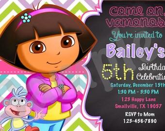 Dora the Explorer Printable Invitation (DE01)