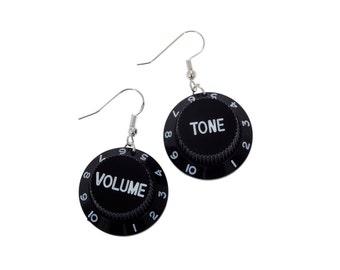 Electric Guitar Volume and Tone Earrings unique unusual gift idea