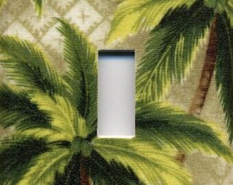 Palm Tree Single Light Switch Plate