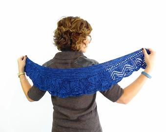 Chloe Shawlette - Knit Pattern - Shawl - Shawlette - Scarf - Wrap - Knit - Pattern