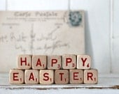 Vintage Letter Cubes HAPPY EASTER