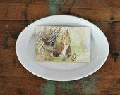 Vintage White Ironstone Platter Cockson Seddon