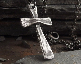 Cross Sterling Silver Necklace Handmade Jewelry for Men or Women
