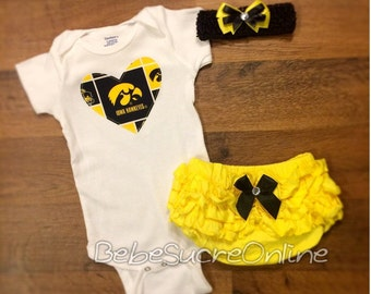 Iowa Hawkeyes Outfit and Headband