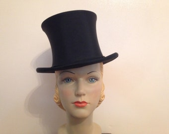 Deco 20s 1920s top hat antique vintage