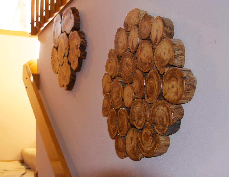 Aspen wall sculpture modern rustic decor wood wall art for Aspen logs for decoration