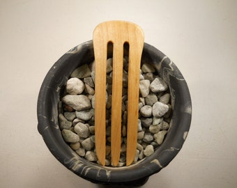 3 prong maple wood hair fork