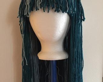 Handmade Crochet yarn Hair wig,women, baby, kids, hair, wig, yarn hair, yarn wig, Halloween wig costume