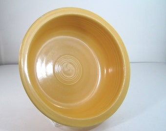 Vintage Fiesta Original Yellow 8 1/2 inch Nappy Bowl