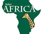 Safari passport invitation custom listing for Shawante