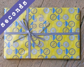 SECONDS - Cycling Wrapping Paper - giftwrap for cyclist - bike giftwrap - bike wrapping paper